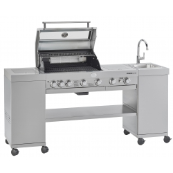 Rösle BBQ-Kitchen Videro G4-SK, Edelstahl-Gasgrill