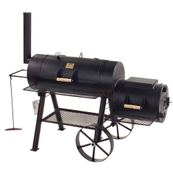 "JOE`s BBQ Smoker Texas Classic 16"" lange Version mit Kochplatte"