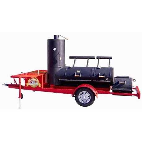 "JOE`s BBQ Smoker Chuckwagon® 24"" Extended Catering Trailer"