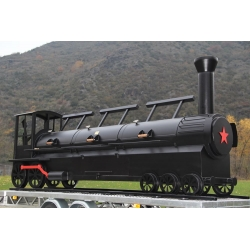 "JOE`s BBQ Smoker Triple Door 24"" Championship Train"