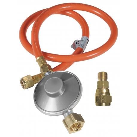 Gasdruckregler mit Schlauch und Adapter
