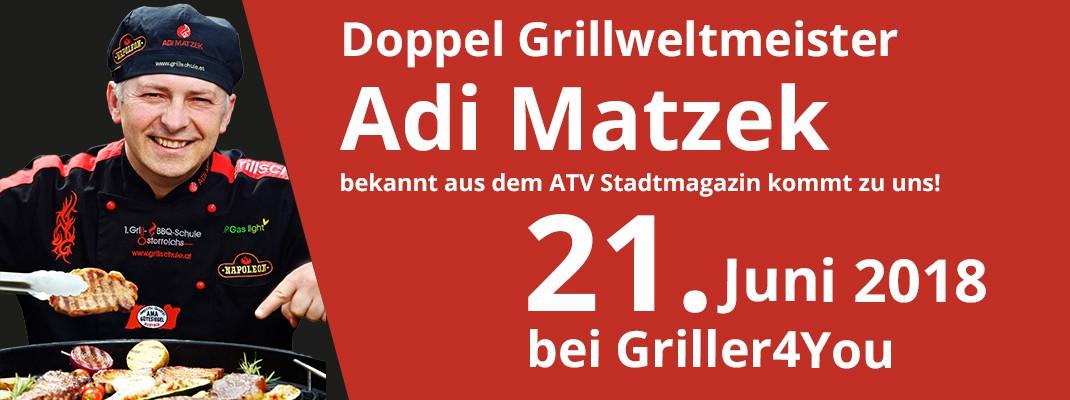 Doppel Grillweltmeister Adi Matzek bei Griller4You